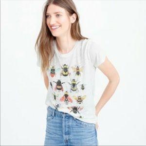 J Crew Bee Garments For Good 100% Linen Tee Shirt